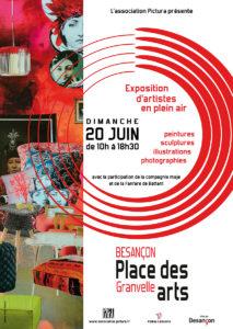 Place des arts, les artistes de Besançon en plein air Place Granvelle